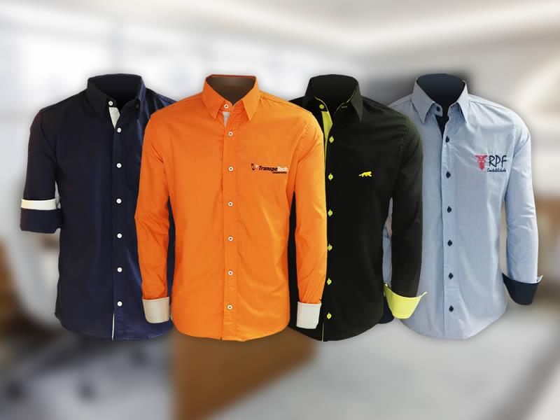 777ae95591 Camisas sociais slim para uniformes - Vision Uniformes ...